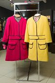 clothes rack with ladies coats for sale