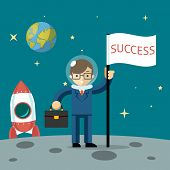 Successful businessman gets the moon