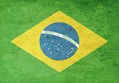 pic of brasilia  - Grunge Flag Of Brazil - JPG