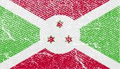 Flag Of Burundi With Old Texture. Vector