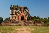 stock photo of nu  - old beautiful Burmese pagoda in Inwa Myanmar - JPG