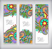 set of decorative flower template banner, card, web design with