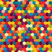 Seamless Background Of Hexagons