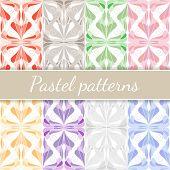 Pastel Seamless Patterns Set