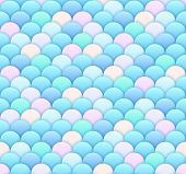 Light Blue Scale Seamless Pattern