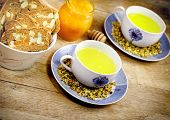 stock photo of chamomile  - Chamomile tea  - JPG