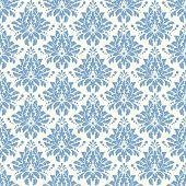 Damascus pattern. Seamless vintage background. Vector