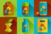 Modern vector flat design conceptual ecological icons