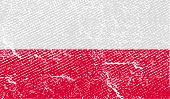Flag Of Poland With Old Texture. Vector