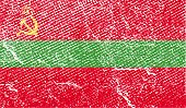 Flag Of Transnistria With Old Texture. Vector