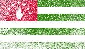 Flag Of Abkhazia With Old Texture. Vector