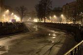 picture of sankt-peterburg  - Kharlamov pedestrian bridge above Griboedov channel in Sankt - JPG