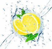 lemon and water splash