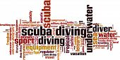 Scuba Diving Word Cloud