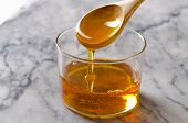 picture of sugar  - Agave Syrup pouring on a glass - JPG