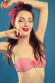 picture of pinup girl  - pin - JPG