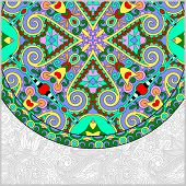 ornamental floral template with circle ethnic dish element, mand