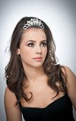 stock photo of tiara  - Hairstyle and make up  - JPG