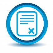 Blue bad document icon