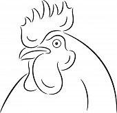foto of black-cock  - Vector Illustration of a Cock head - JPG