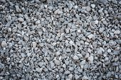 stock photo of granite  - close up grey granite gravel background for mix concrete in construction industrial - JPG