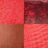 Set Of Red Leather Samples