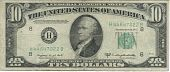 front 1950 ten dollar bill
