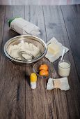 image of fermentation  - Baking cake in rural kitchen  - JPG