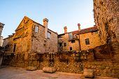 Ancient buildings in Split city center