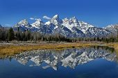 Teton Mountain Range Reflection
