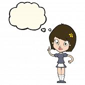 pic of maids  - cartoon pretty maid with thought bubble - JPG