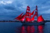Постер, плакат: Scarlet Sails Celebration In St Petersburg