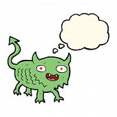 picture of demon  - cartoon little demon with thought bubble - JPG