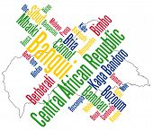 Central African Republic Map And Cities
