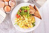 picture of scrambled eggs  - scrambled egg - JPG