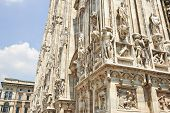 foto of reconstruction  - Detail of the Milan Cathedral Square  - JPG