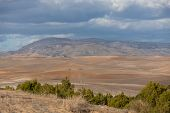 picture of algeria  - rural landscape with clouds - JPG