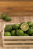 picture of dandruff  - Bergamots put together in a wood box - JPG