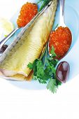 stock photo of plate fish food  - diet food  - JPG