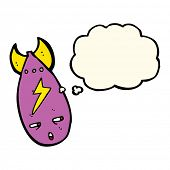 pic of bomb  - cartoon bomb with thought bubble - JPG