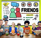 picture of comrades  - Friends Group People Social Media Loyalty Concept - JPG