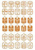 stock photo of trans  - Multi Language No Trans Fat Icons Set - JPG