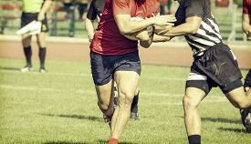 picture of balls  - Rugby players fighting for ball  - JPG