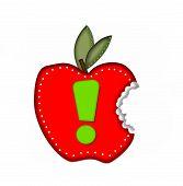 Постер, плакат: Alphabet Delicious Apple Bite Exclamation