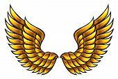 Golden wings.