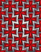 Medieval crosses seamless pattern.