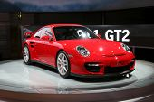 The new Porsche GT2 at the motorshow in Germany IAA 2007