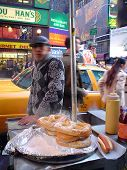Pretzel Seller In New-York City