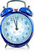 Blue vintage alarm clock