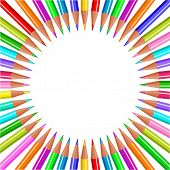Back to school color pencils background